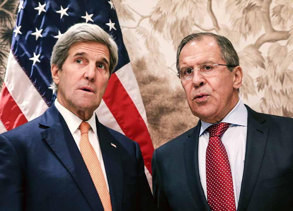 Глава МИД РФ Сергей Лавров и госсекретарь США Джон Керри