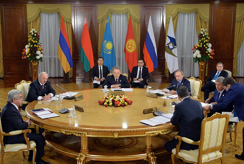 Заседание в Астане Евразийского экономического совета