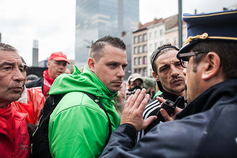 Участники акции протеста в Брюсселе