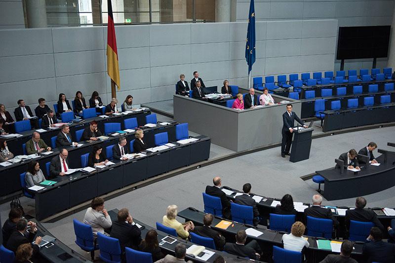 Заседание парламента Германии