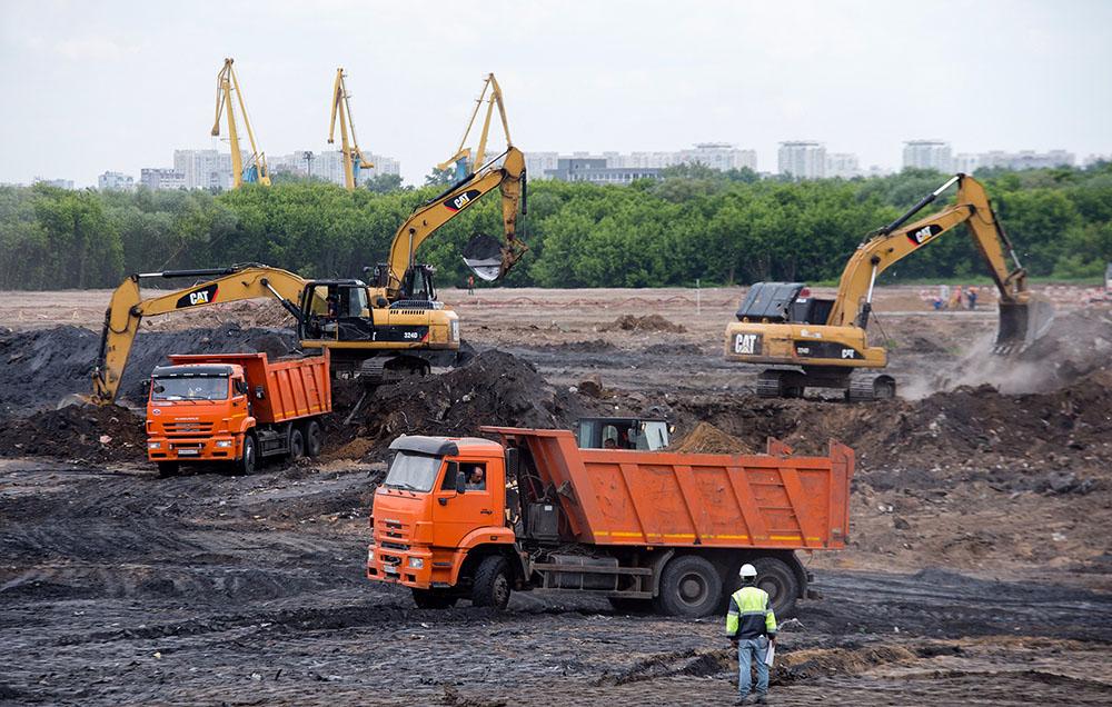 """Строительство парка """"Остров мечты"""" в Москве"""