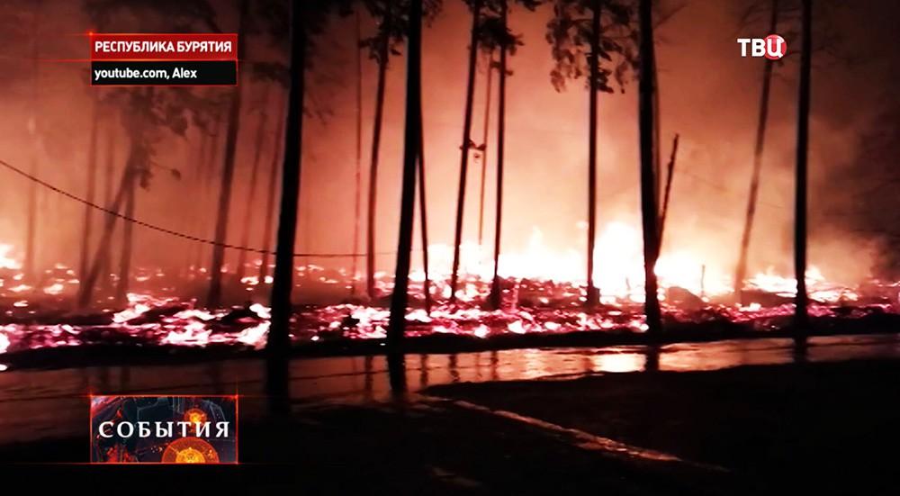 Лесной пожар в Бурятии