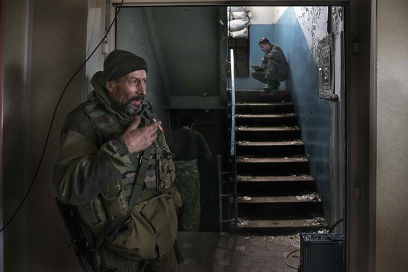 Солдаты украинской армии на позиции