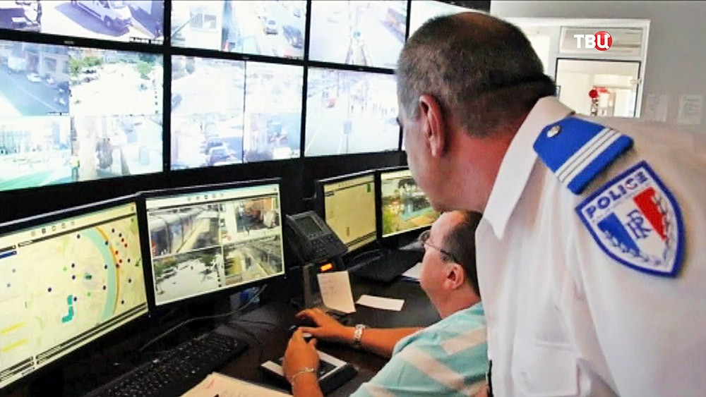 Центр фидеофиксации полиции Франции
