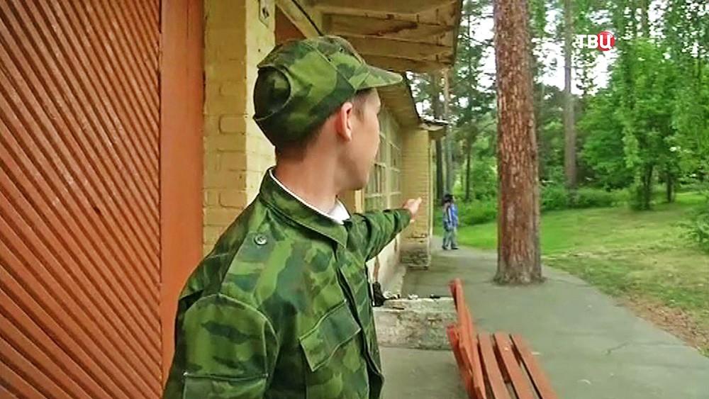 Участник военно-полевых сборов в детском лагере, где произошла стрельба