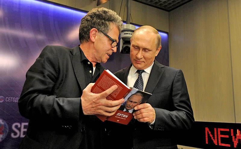 Президент России Владимир Путин и писатель Хуберт Зайпель