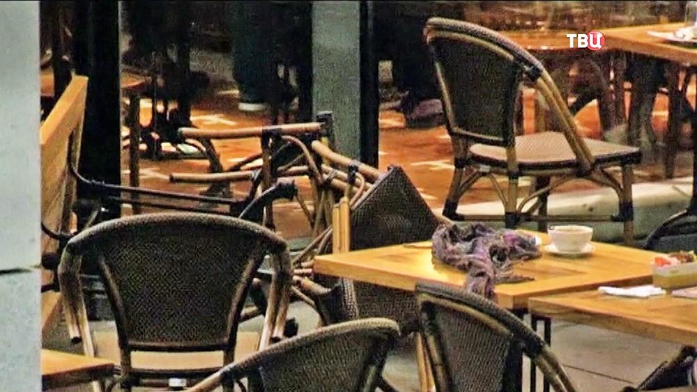 Последствия нападения на кафе в Израиле