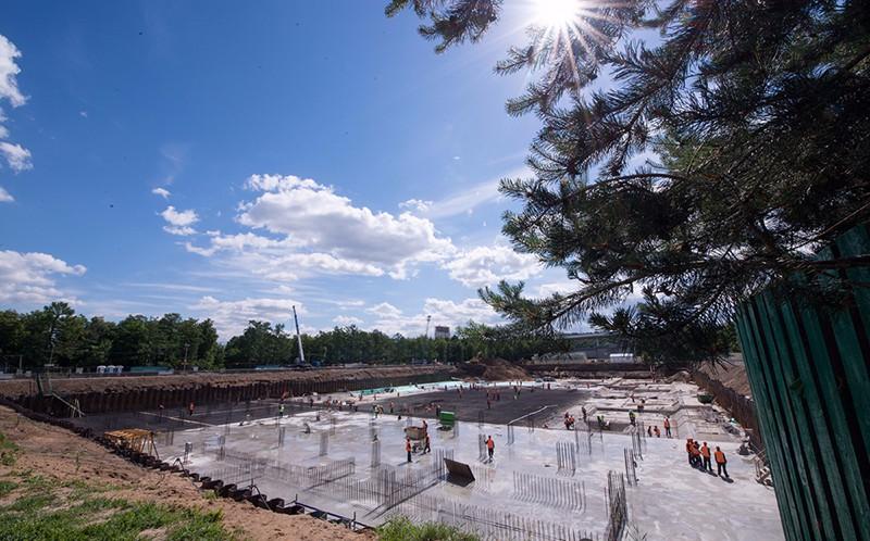 """Строительство многофункционального плавательного центра """"Лужники"""""""