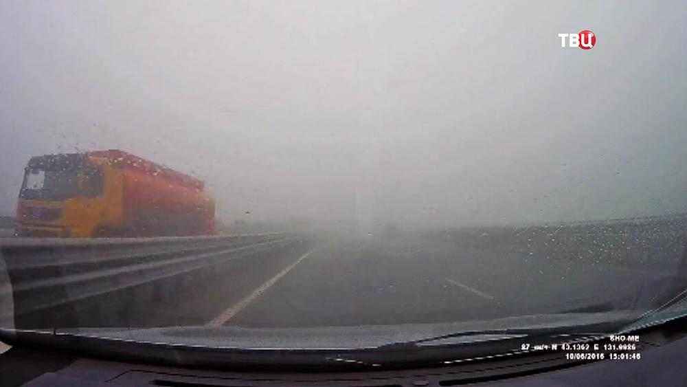 Туман на трассе