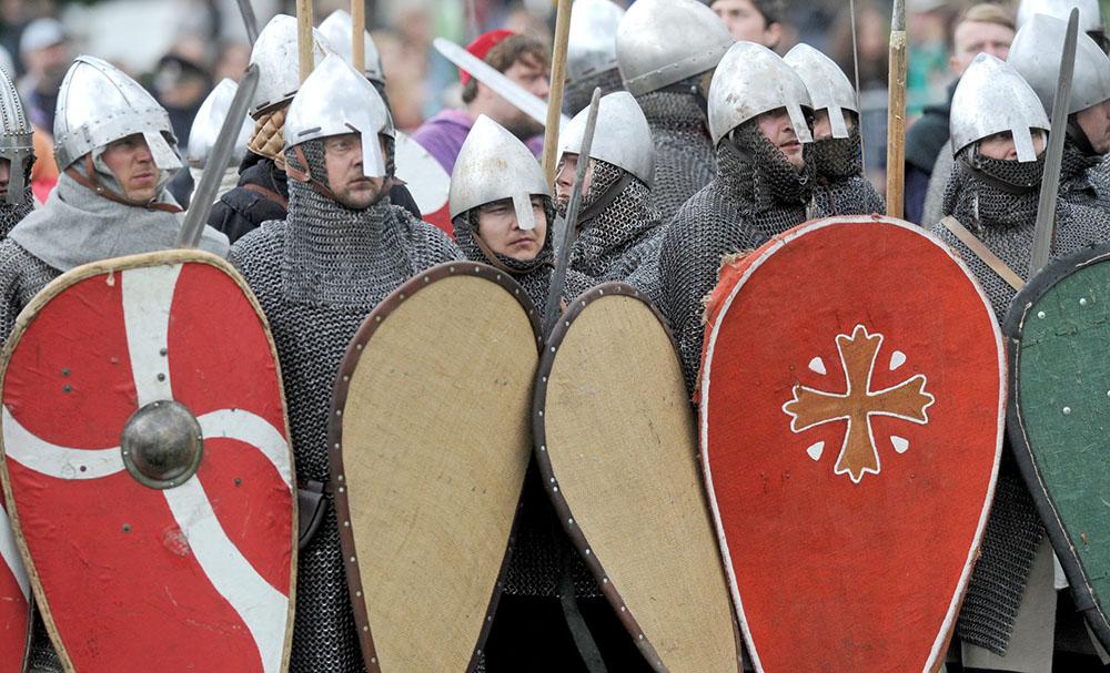 Участники исторического фестиваля