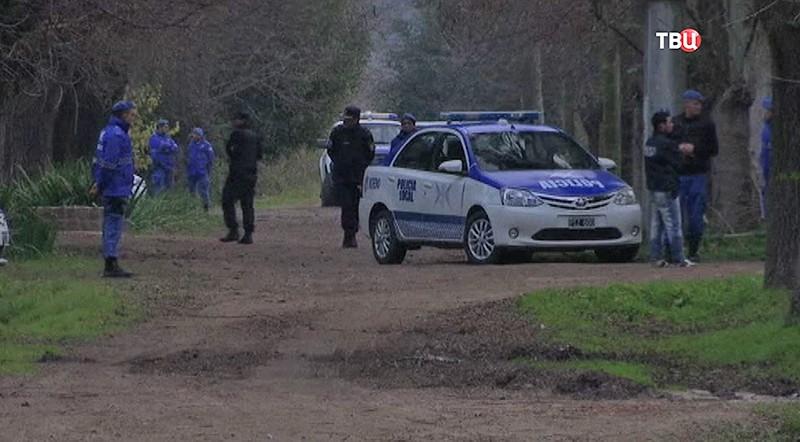 Полиция на месте задержания