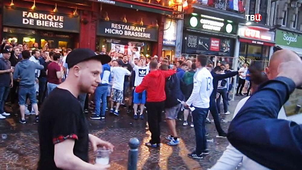 Футбольные фанаты во Франции