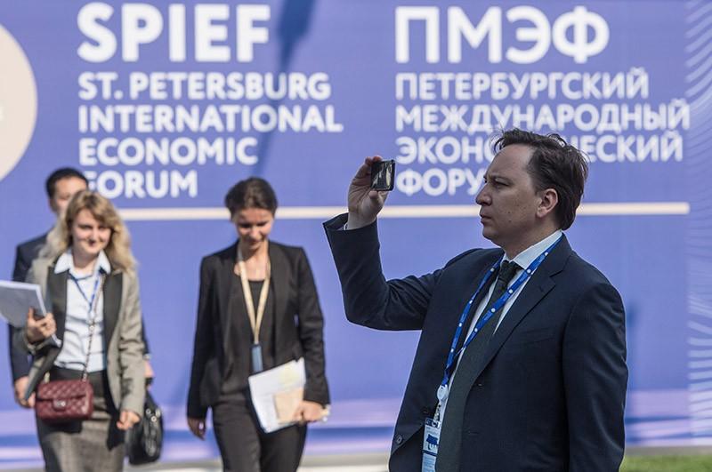 Участники прибывают на XX Петербургский международный экономический форум