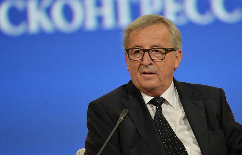 Председатель Европейской комиссии Жан-Клод Юнкер на торжественном открытии XX Петербургского международного экономического форума