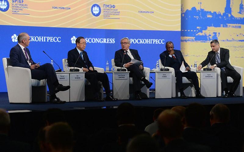 На торжественном открытии XX Петербургского международного экономического форума