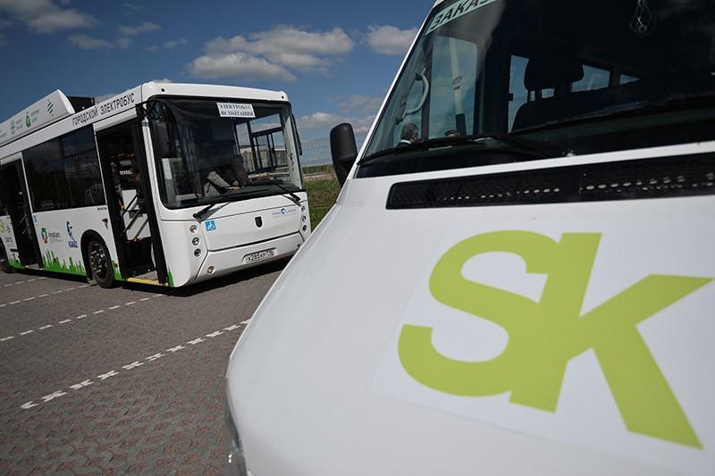 Электробус во время испытаний