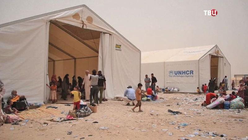 Лагерь для жителей иракского города Фаллуджа