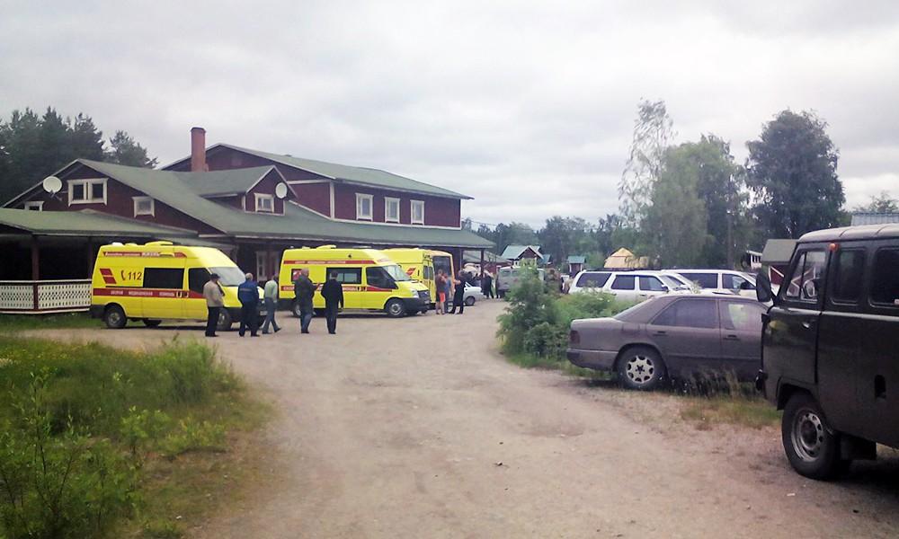 Экстренные службы Карелии в лагере на Сямозере