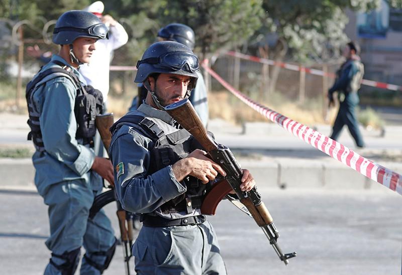 Полиция Афганистана на месте происшествия