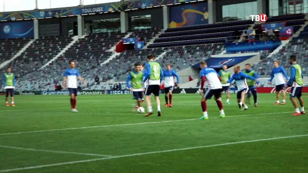 Тренировка Российской сборной на Евро-2016