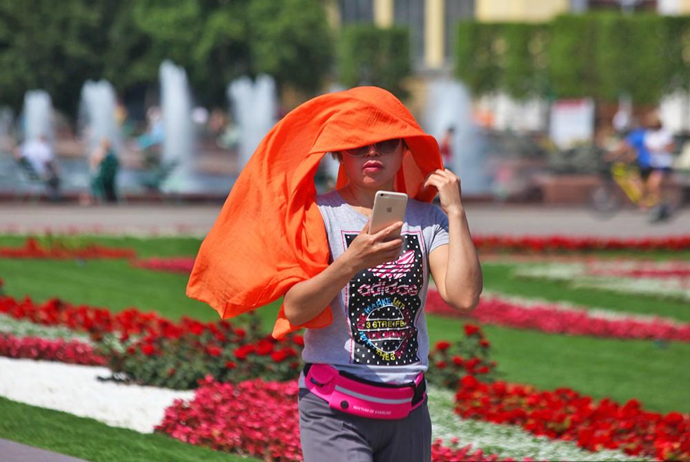 Жара в Москве