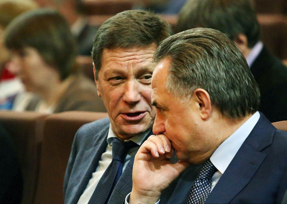 Александр Жуков  и Виталий Мутко
