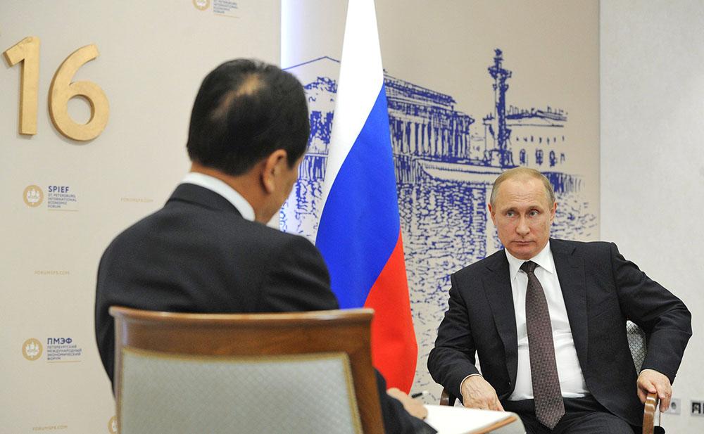 """Президент России Владимир Путин дает интервью китайскому информагентству """"Синьхуа"""""""