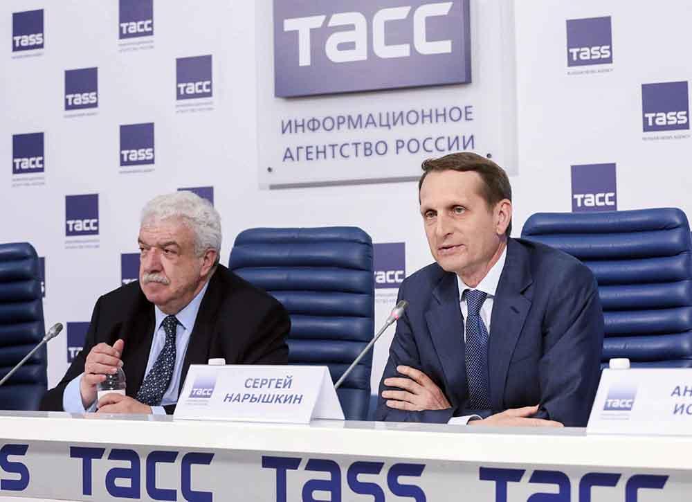 Сергей Нарышкин на пресс-конференции по итогам работы Госудумы