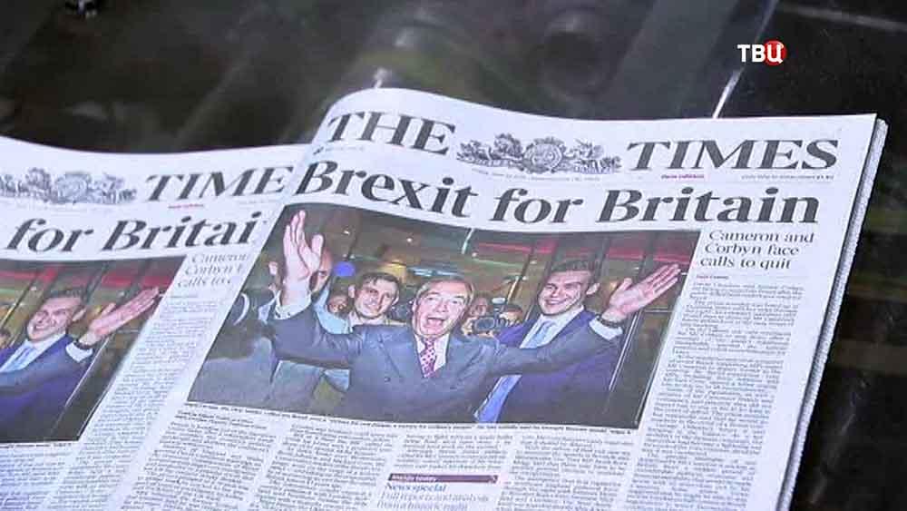 Статья в The Time про результаты Brexit