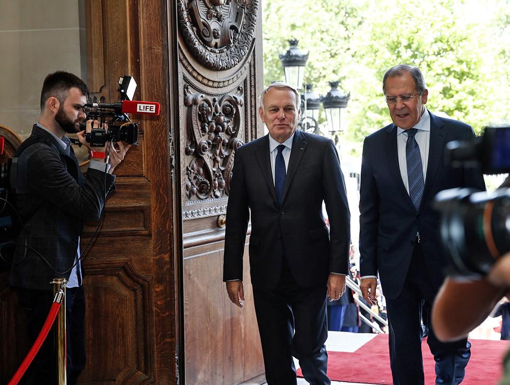 Глава МИД Сергей Лавров и министр иностранных дел Франции Жан-Марко