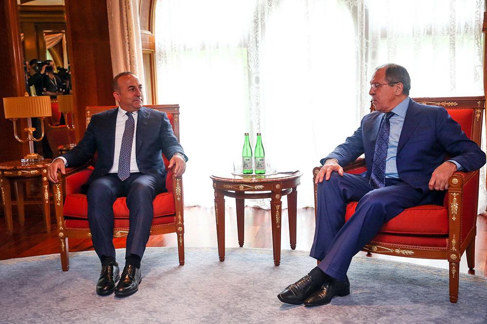 Глава МИД Сергей Лавров и министр иностранных дел Турции Мевлют Чавушоглу
