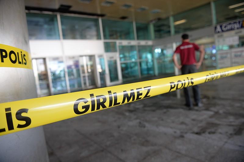 На месте теракта в аэропорту Стамбула, Турция