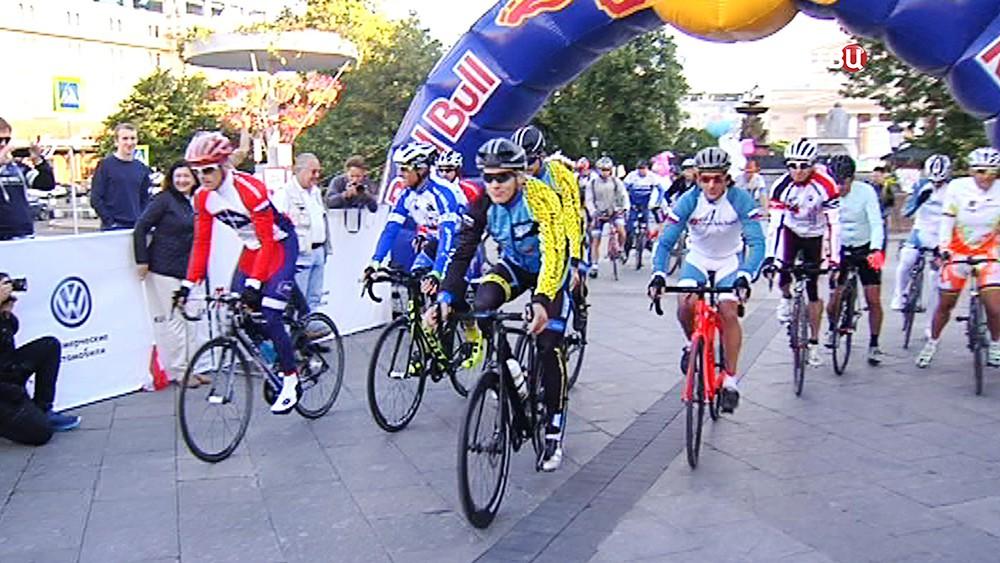 Старт велогонки