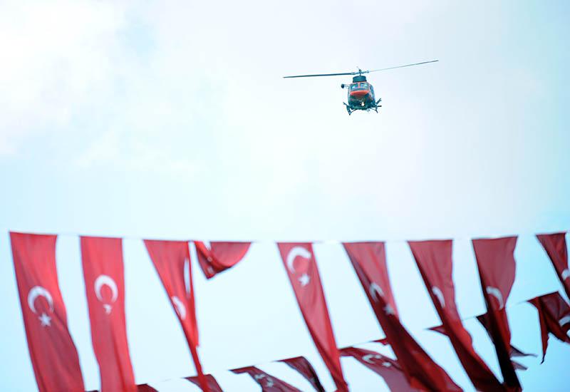 Вертолет в Турции