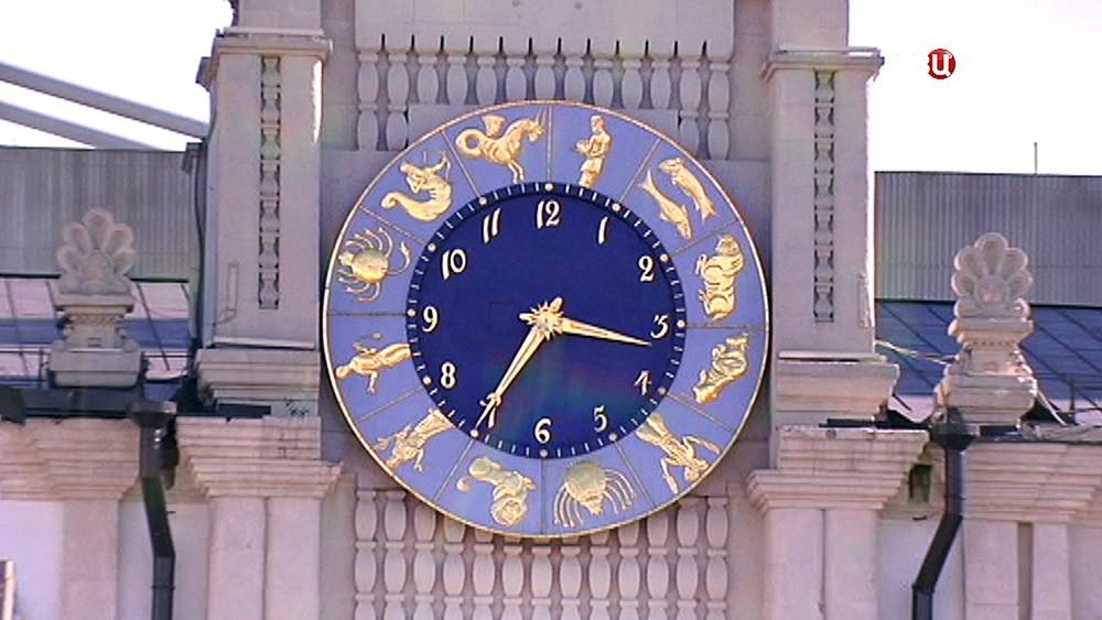 Зодиакальные часы на Казанском вокзале