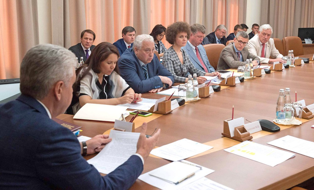 Сергей Собянин проводит заседании