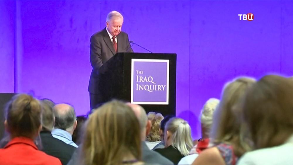 Руководитель расследования британского участия в иракской военной кампании Джон Чилкот