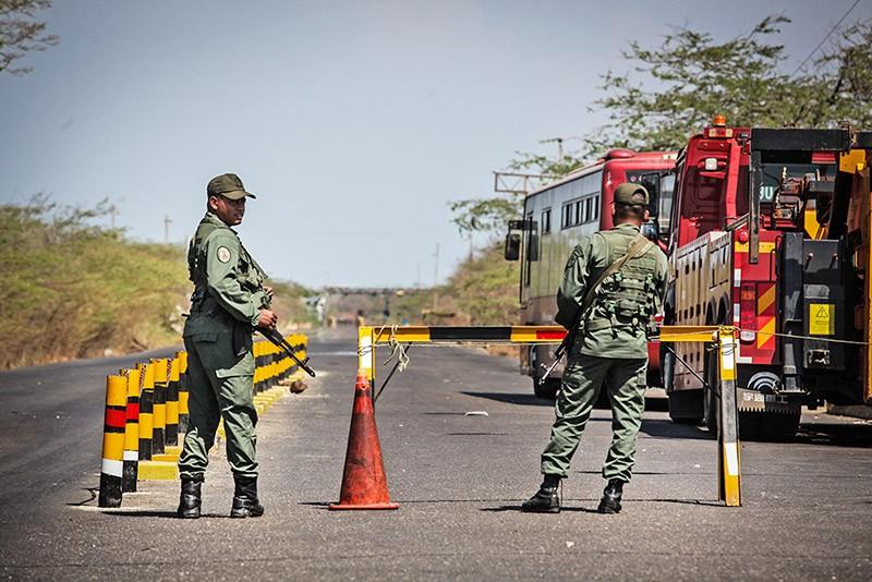 КПП на границе Колумбии и Венесуэлы