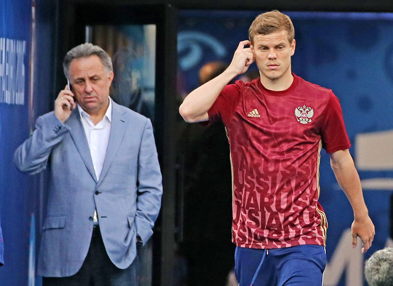 Александр Кокорин и Виталий Мутко