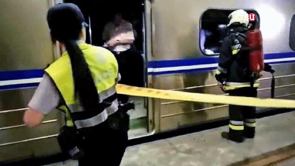 Последствия взрыва в метро на Тайване