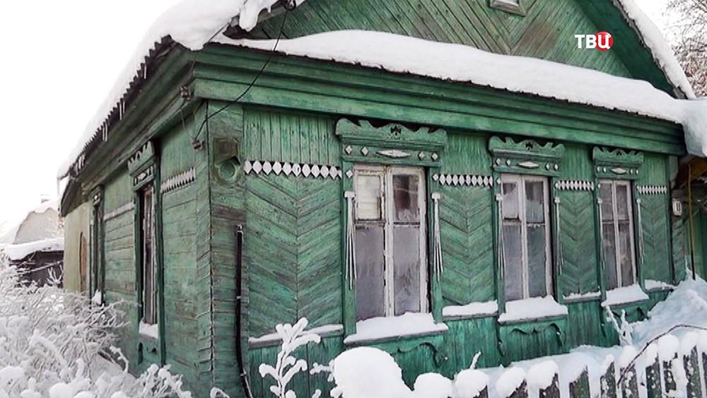 Дом отца ребенка пострадавшего от действий ульяновского коллектора