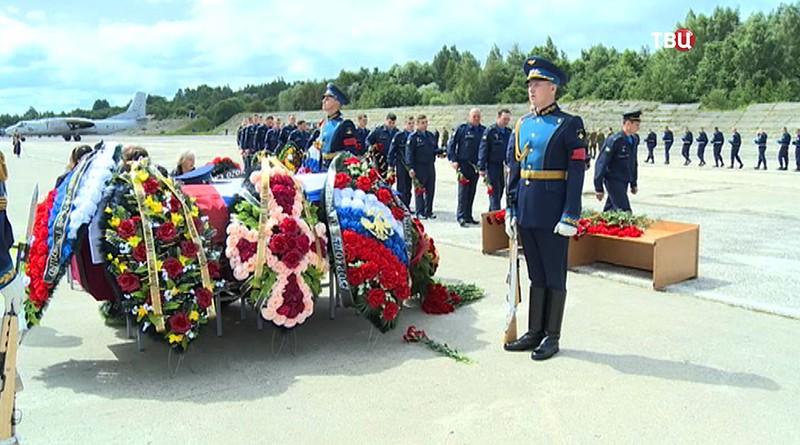 Похороны летчиков в Сирии