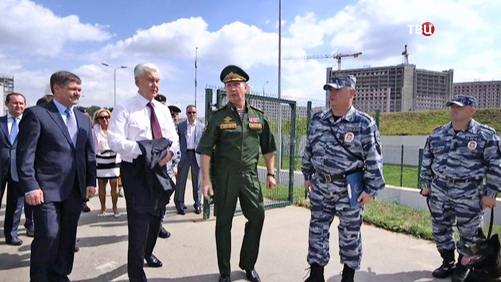 Сергей Собянин осмотрел строительство базы для войск Росгвардии