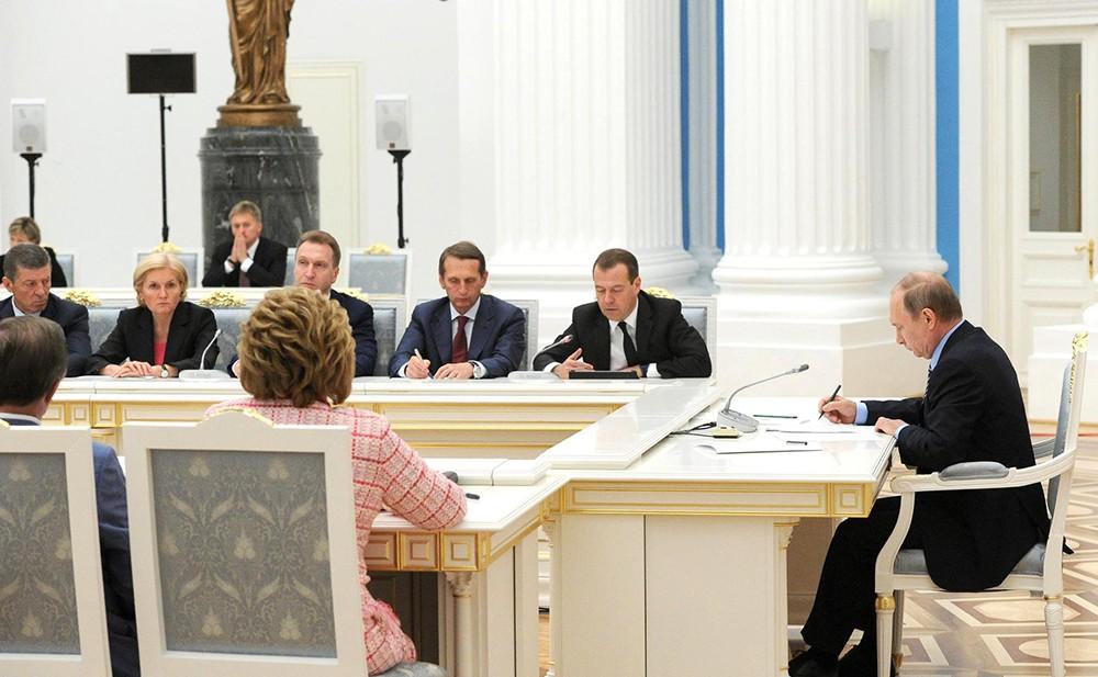Президент России Владимир Путин провел заседание Совета по стратегическому развитию