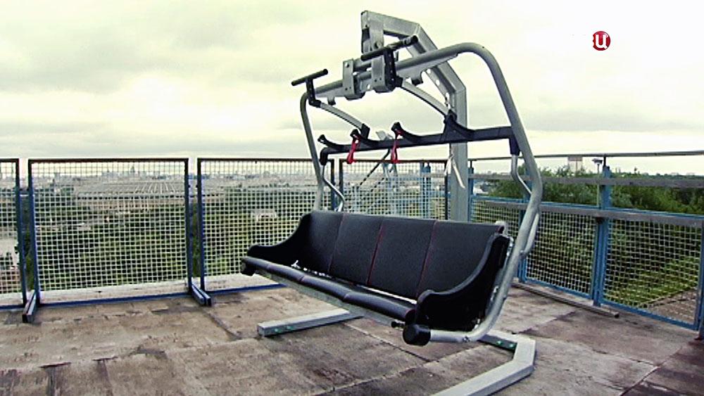 Кресло новой фуникулера на Воробьевых горах