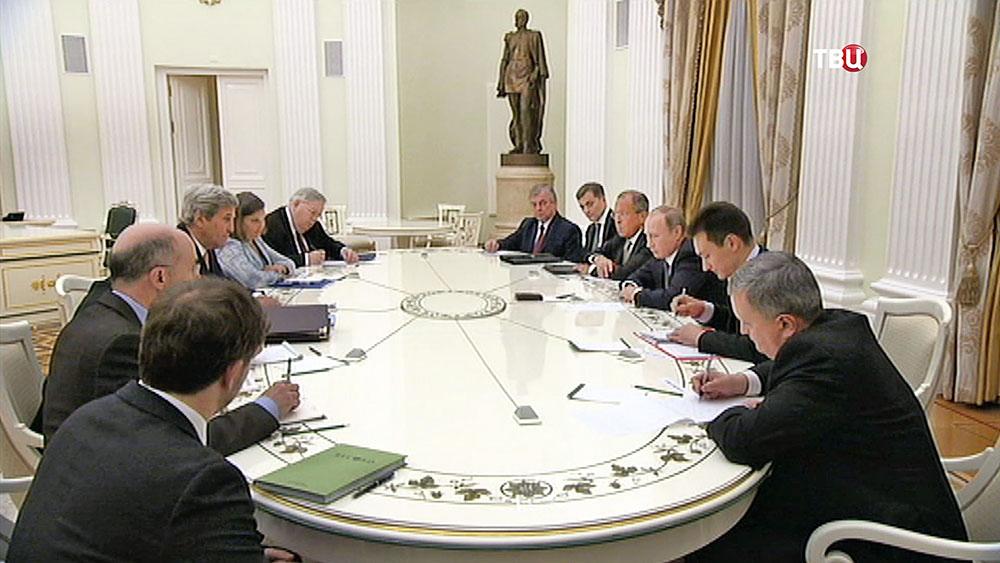 Переговоры президента России Владимира Путина и госсекретаря США Джона Керри