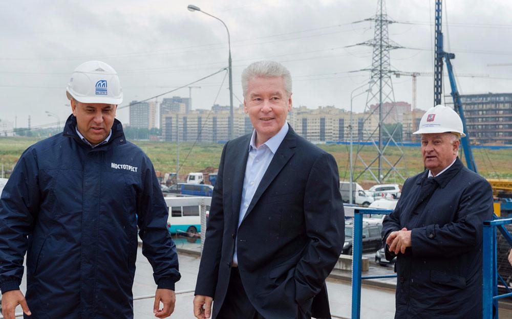 Мэр Москвы Сергей Собянин проинспектировал строительство развязки