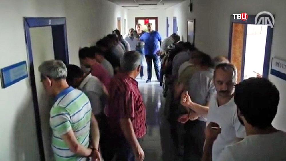 Задержанные по подозрению в перевороте в Турции