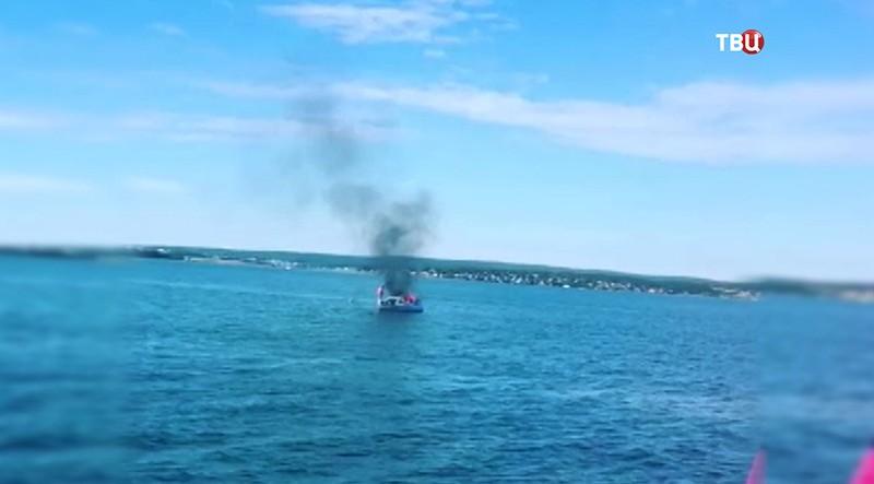 Пожар на катере