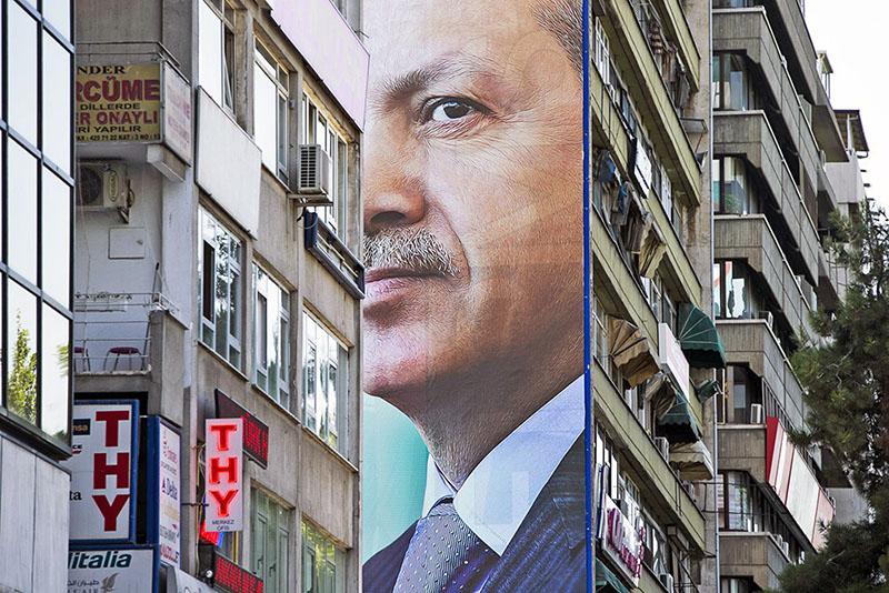 Плакат с изображением президента Турции Реджепа Тайипа Эрдогана